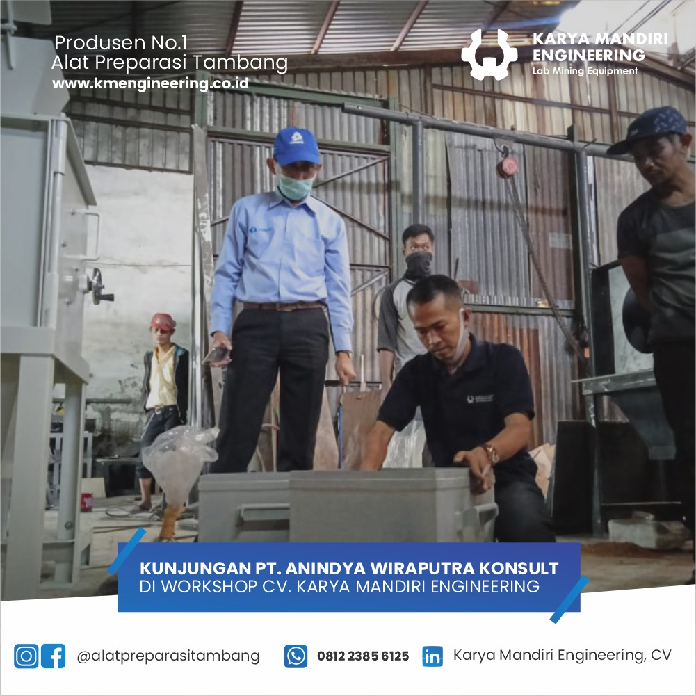 Kunjungan PT Anindya Wiraputra Konsult di Workshop KM Engineering